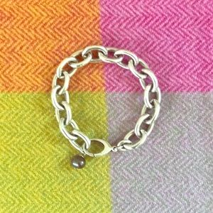 Jewelry - 💜Thick heavy sterling silver links bracelet